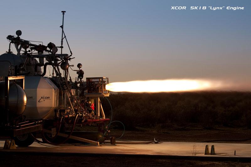 Nya bilder på testerna med Lynx framtida raketmotor