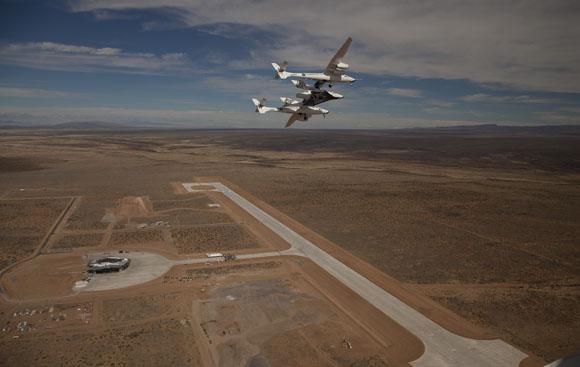 Landningsbanan invigd vid världens första rymdhamn