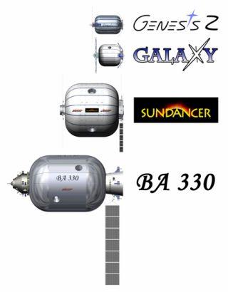 Bigelow utevklingssteg Genesis Sundancer och BA-330