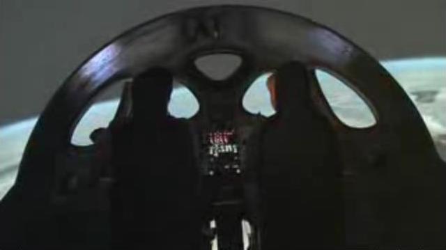 Så här ser simulatorträningen ut för SpaceShipTwo
