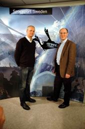 Stephen Attenborough (vänster) och Olle Norberg (höger)