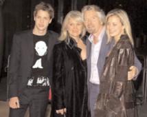 Richard Branson and family