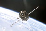 Soyuz raket på väg mot ISS