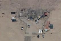 Raketexplosion i Mojaveöknen 070727