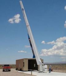 Första raketen skickas iväg från Spaceport America