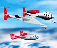 Virgin Galactic visar upp en konceptmodell av SpaceShipTwo