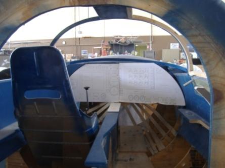 Lynd modell insidan av cockpit