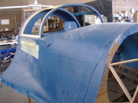 Modell av Lynx cockpit