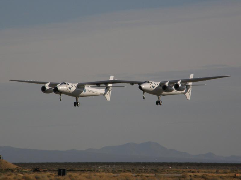 Fler bilder från WhiteKnightTwos andra provflygning