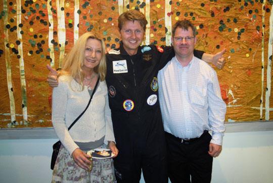 Ewa Nilsson, Per Wimmer (Danmarks förste man i rymden?) och Leif Arndorff (Skånes förste man i rymden?)